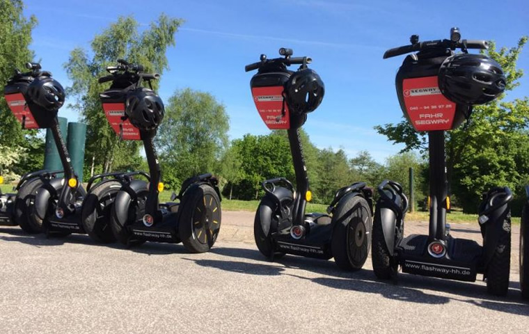 Firmenevent mit Segway-Parcours